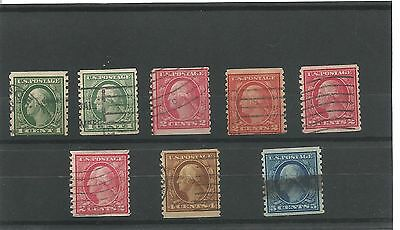 USA 1908 Coil stamps