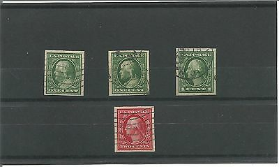 USA 1908 Imperf Stamps