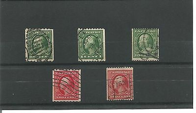 USA 1908 Vertial  Coil stamps