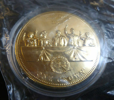 VE Day WWII Commemorative 24 Carat Gold-Plated One Crown 2012 TDC