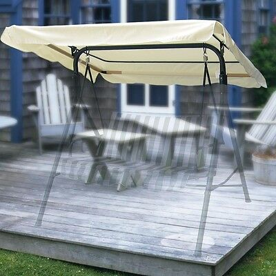 75x43 Outdoor Replacement Swing Canopy Cover Top Porch Patio Seat Furniture Pool