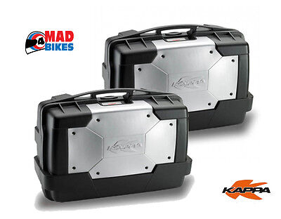 A Pair of Kappa KGR33 Motorcycle Panniers Luggage Cases (Givi Monokey Fitment)
