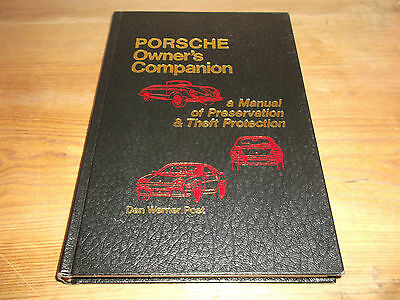 Book Porsche Owner's Companion A Manual of Preservation & Theft Protection 1981