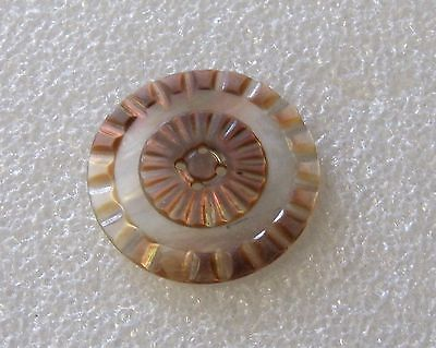 Vintage Pearl Shell -Abalone 1 1/2 Inch  4 Hole Sew Through  Button (S)