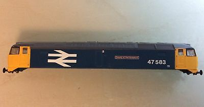 N gauge Graham Farish Class 47 Body Shell in BR large logo livery no. 47583 exc.