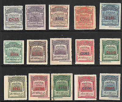 Us Western Union Telegraph Stamps 1884-1906