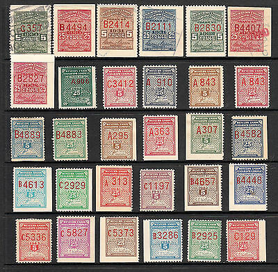 Us Western Union Telegraph Stamps 1930-1946