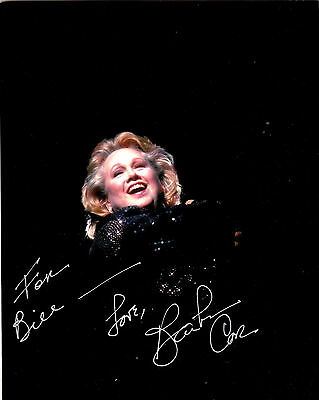 "Barbara Cook,singer/actress,signed 8""x10"" Photo +1986 Show Programme"