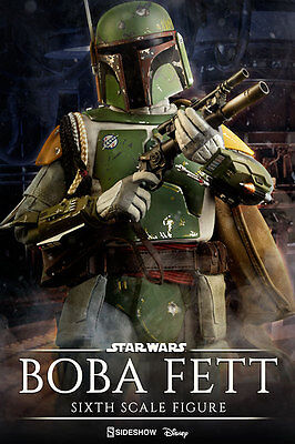 "Star Wars Boba Fett 1/6 12"" Sixth Scale action Figure By Sideshow Collectibles"