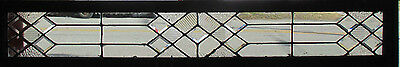 Antique Stained Beveled Glass Transom Window 69 X 12  Architectural Salvage~