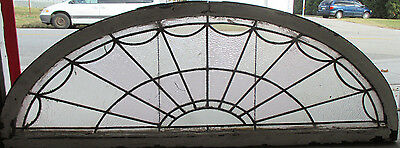 Antique Stained Glass Fanlight Transom Window 68 X 24  Architectural Salvage