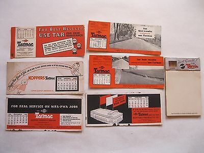 Vintage Tarmac Calendar Ink Blotters 1930's Pad Paper with Dice