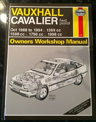 Haynes Manual For Vauxhall Cavalier Fwd 1988 - 1994