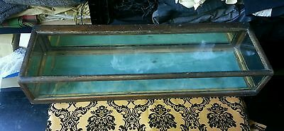 antique table top display collectors cabinet