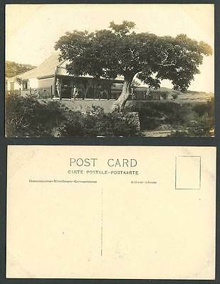 China Old Real Photo Postcard Wei Hai Wei GOLF CLUB HOUSE, Bicycle Weihaiwei Is.