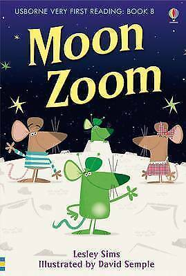NEW USBORNE Very First Reading (8) MOON ZOOM  paperback