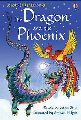 NEW USBORNE First Reading ( LEVEL TWO ) the DRAGON and the PHOENIX paperback 2