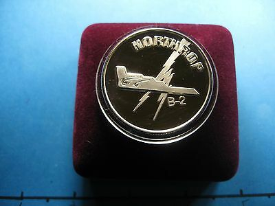 Northrop B-2 Stealth Bomber Silver Trade Unit Air Force 999 Silver Coin Rare