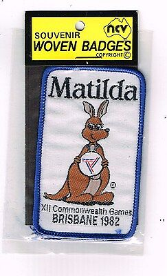 Collectable Cloth Patch Brisbane Commonwealth Games 1982