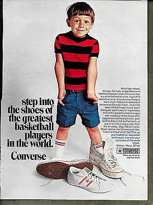1970 Vintage All Star Coach Leather Converse Sneakers Print Ad