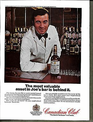 1970 Vintage Canadian Club Whiskey Print Ad