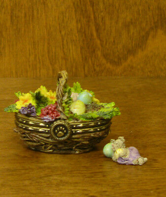 Boyds Treasure Boxes #392171 Suzie's Spring Basket 2 Ed, NEW from Retail Store