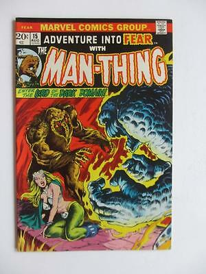 Adventures Into FEAR # 15 - HIGH GRADE - Man-Thing! Horror Mystery MARVEL