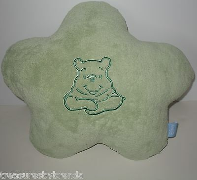 Disney Baby Winnie the Pooh Pillow Star Shaped Green Throw Cushion