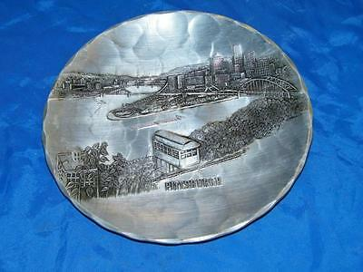 Vintage Pittsburgh Wendell August Hammered Grove City Aluminum Metal Tray