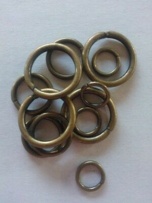 12 mixed Leathercraft Old vintage Rings