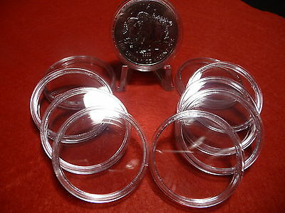 CANADIAN COIN CAPSULES   38mm  (pkg of 10 ) SILVER MAPLE LEAFS (#9)