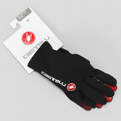 Castelli Diluvio Light Cycling Gloves LARGE/XL Black Road Mountain Full Finger