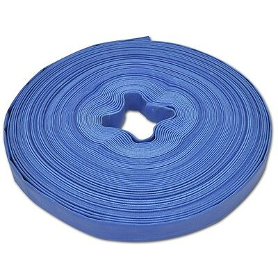 1 Inch 25mm PVC Layflat Hose Water Pump Transfer Lay Flat 50m Outlet Discharge