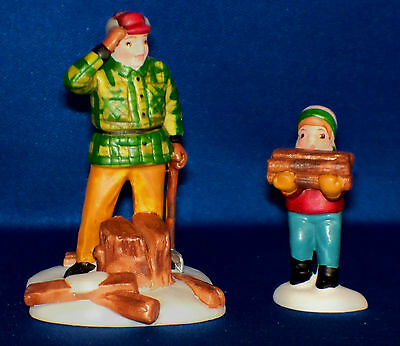 Dept 56 WOODCUTTER AND SON, St/2 , New England Village, New in Box, #5986-2