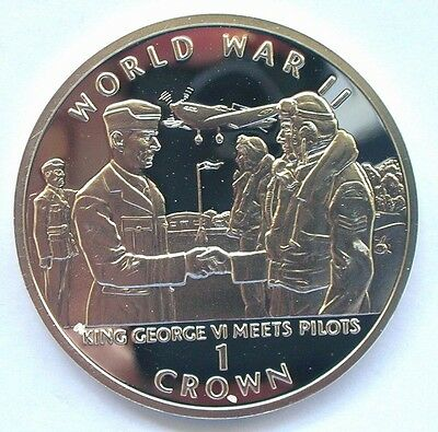 Gibraltar 1994 World War II Crown Silver Coin,Proof