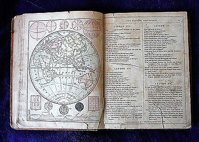 1885 antique MONTEITH GEOGRAPHY COMPLETE with many maps + illus in book form