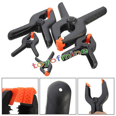 Heavy Duty Plastic Nylon Spring Clamp Clip Tips For Photography Background Black