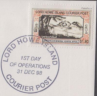 Lord Howe Island 1998 $1.80 GOWER WILSON Hospital Cinderella/Local 1st issue FDC