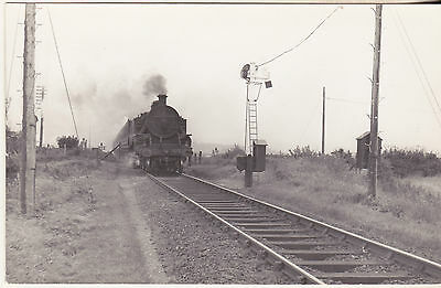 NEAR LIMAVARDY (DERRY) 2-6-4T LOCO 10/9/63 5.5 x 3.5 INCH PHOTOGRAPH BY GAMMELL