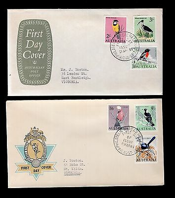 Australia 1964 & 1965 FDC Bird issues see scans x2