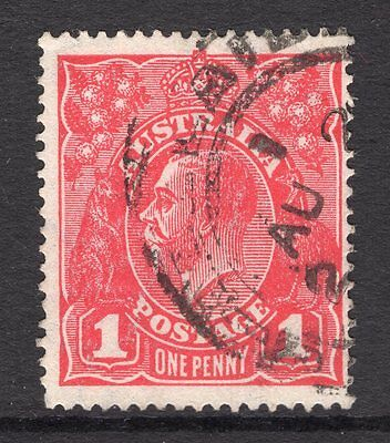 Australia 1d red KGV issue with LMW see scans x2