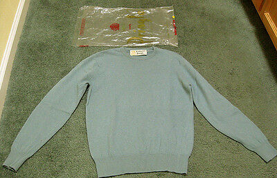 My Vintage 1950's CASHMERE by PRINGLE Sweater Made in Scotland sz 34 + LOGO Bag