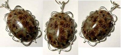 19th Century Antique Cabochon 92ct Coral Agate in Sterling Silver Pendant