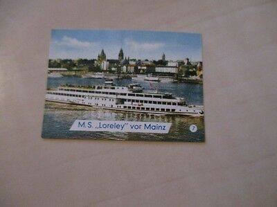 Jw-Old Poster Stamp-Shipping-Ms. Loreley-Mainz