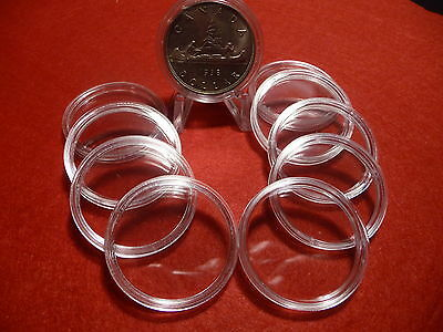 CANADIAN COIN CAPSULES   36mm  (pkg of 10 ) SILVER DOLLARS (#11)