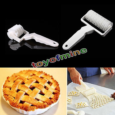 Plastic Kitchen Baking Tools Dough Bread Cookie Pie Pastry Lattice Roller Cutter