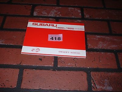 Genuine Subaru 1400 & 1600 Owners Manual / Maintenance Handbook.1977-1978