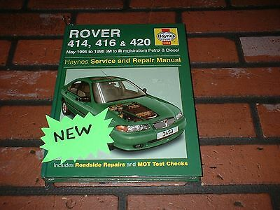 New And Sealed Haynes Manual For Rover 414,416,420. 1995-1998. M-R Reg