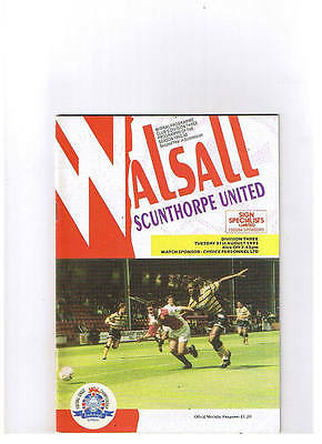 Walsall v Scunthorpe United Div 3 August 1993