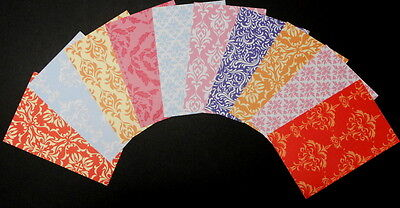 "*DAMASK* x 10 - Beautiful Scrapbooking/Cardmaking Papers  *15cm x 10cm (6"" x 4"")"